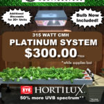 MANTIS PLATINUM 315 CMH  As low as $183.48+tax when you buy 61+ units (Hortilux Bulb Included)